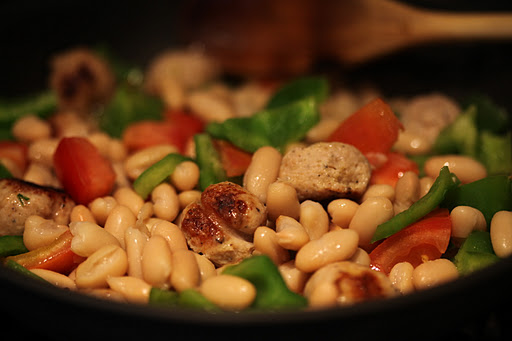 Sausage and White Beans.